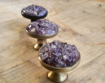 No.16 1pc of Star Round Snap Button Charms With Dark Amethyst Rhinestones Knob Size 5~5.5mm