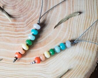 Chakra necklace, micromacrame chakra necklace, yoga necklace, healing gemstones necklace, chakra macrame meditation necklace, yoga chakras