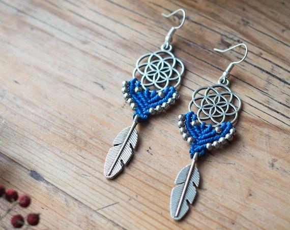 Long seed of life earrings