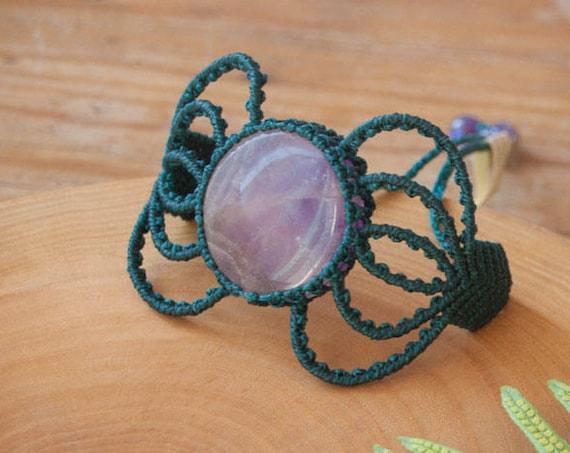 Amethyst moon bracelet