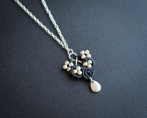 Black infinity necklace