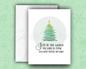 Joy to the World - Christmas Carol Note Cards - A2 size with envelope