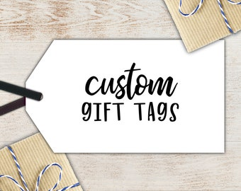 Custom Gift Tags - Personalized Hand Lettered Names