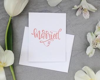Married AF // Greeting Card