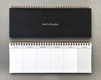 Keyboard Planner / Coiled Planner / Calendar / To Do List / Organization / Productivity Tool / Weekly Planner / Planning / Stevie and Bean