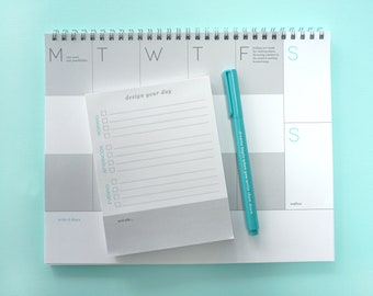 Weekly + Daily Planner / The Planning Essentials / Week at a Glance / Day at a Glance / Notepad / Making Plans / Organizational Tool