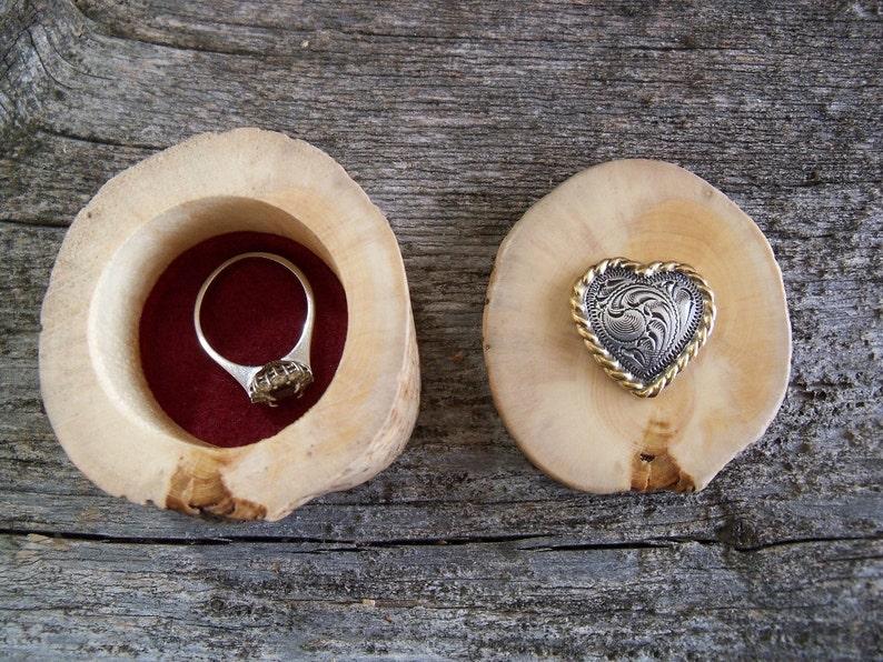 Heart Ring Box Western Ring Box. Engagement Ring Box Wooden Ring Box Rustic Ring Box with Concho Proposal Ring Box Cowgirl Ring Box
