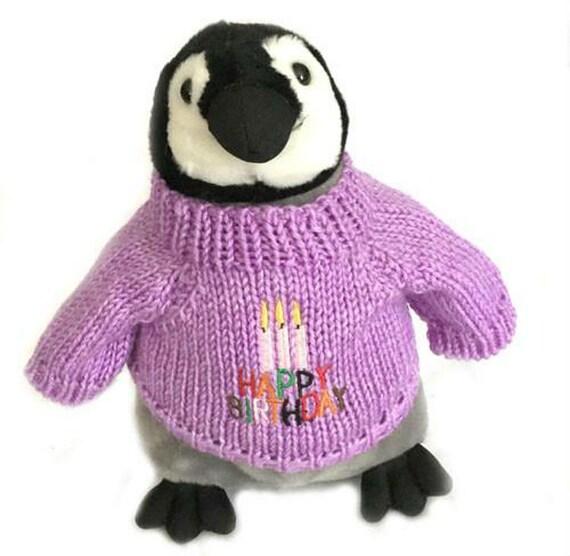 Alles Gute Zum Geburtstag Pinguin Kuken Plusch 10 Hoch Etsy