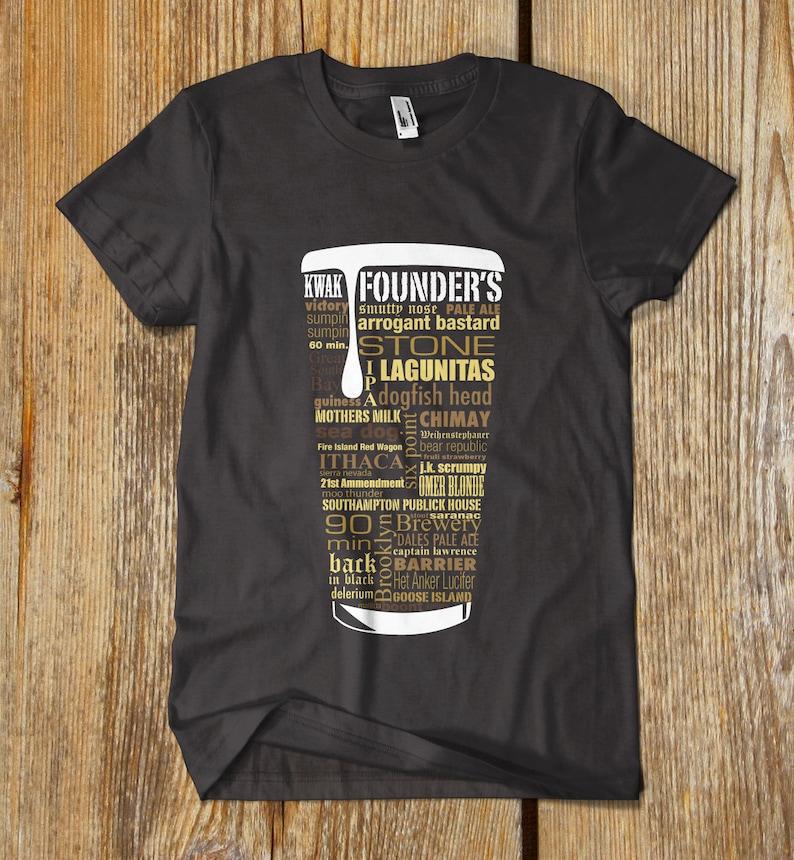 01be98ca BEST SELLER Beer Shirt Typography print Beer lover gift Beer T | Etsy
