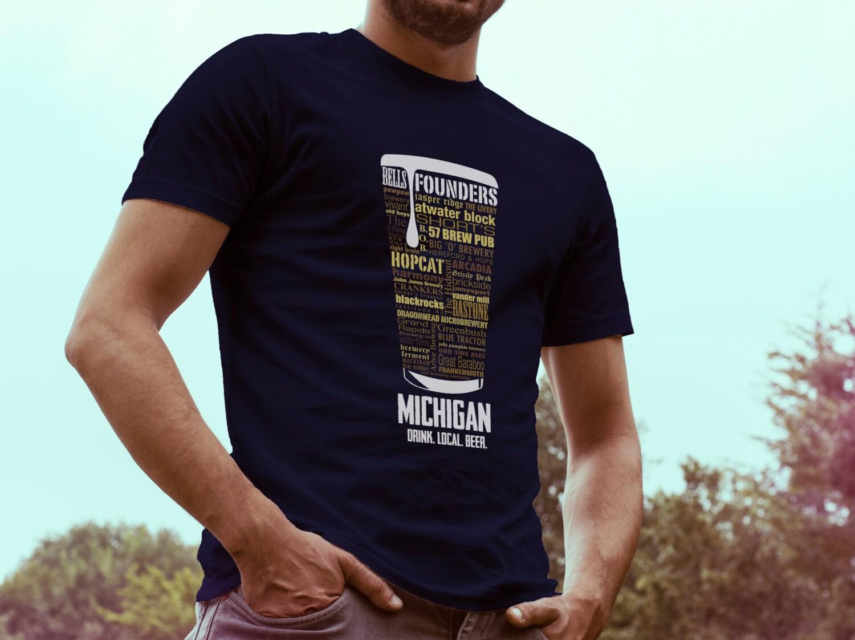 b98adb4a4 MICHIGAN Beer Shirt Typography print Beer lover gift Beer T | Etsy
