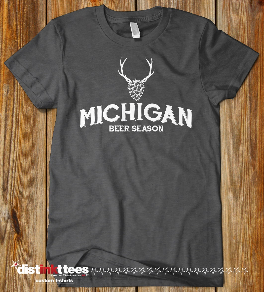 Michigan Beer Season Beer State Breweries Typography T Shirt Etsy