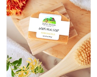Honeysuckle, All Natural GOATS MILK SOAP Handmade