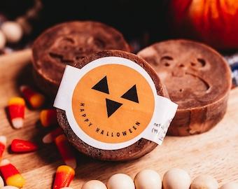 HALLOWEEN PUMPKIN SOAP, Pumpkin Spice scented Halloween Gift for kids, teachers, friends, Goats Milk Soap