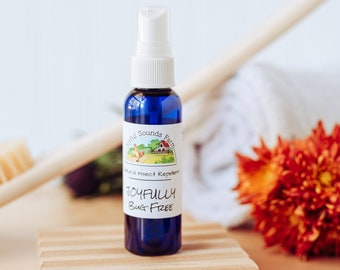 Joyfully Bug Free, Natural Bug Spray, Insect Repellent, Non Toxic Mosquito Spray, Essential Oil Tick Repellent