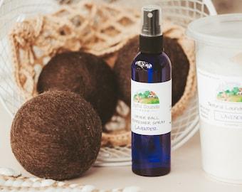 Wool Dryer Ball Refresher Spray, Essential Oil