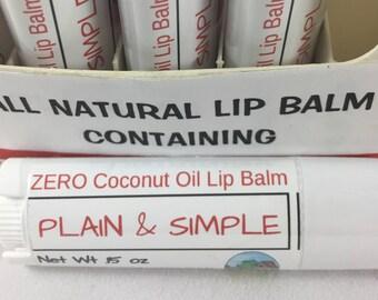 ZERO COCONUT OIL Lip Balm, coconut oil free, All Natural Lip Balm, Essential Oil Lip Balm