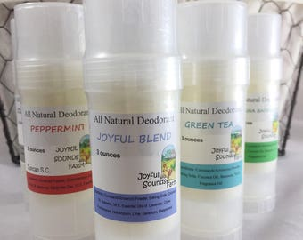 All Natural Deodorant, Aluminum free, Solid Stick Deodorant in Dial Up Tube, Organic