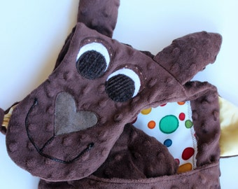 Kangaroo Blanket Friend/ new baby gift/ baby shower gift/ security blankie