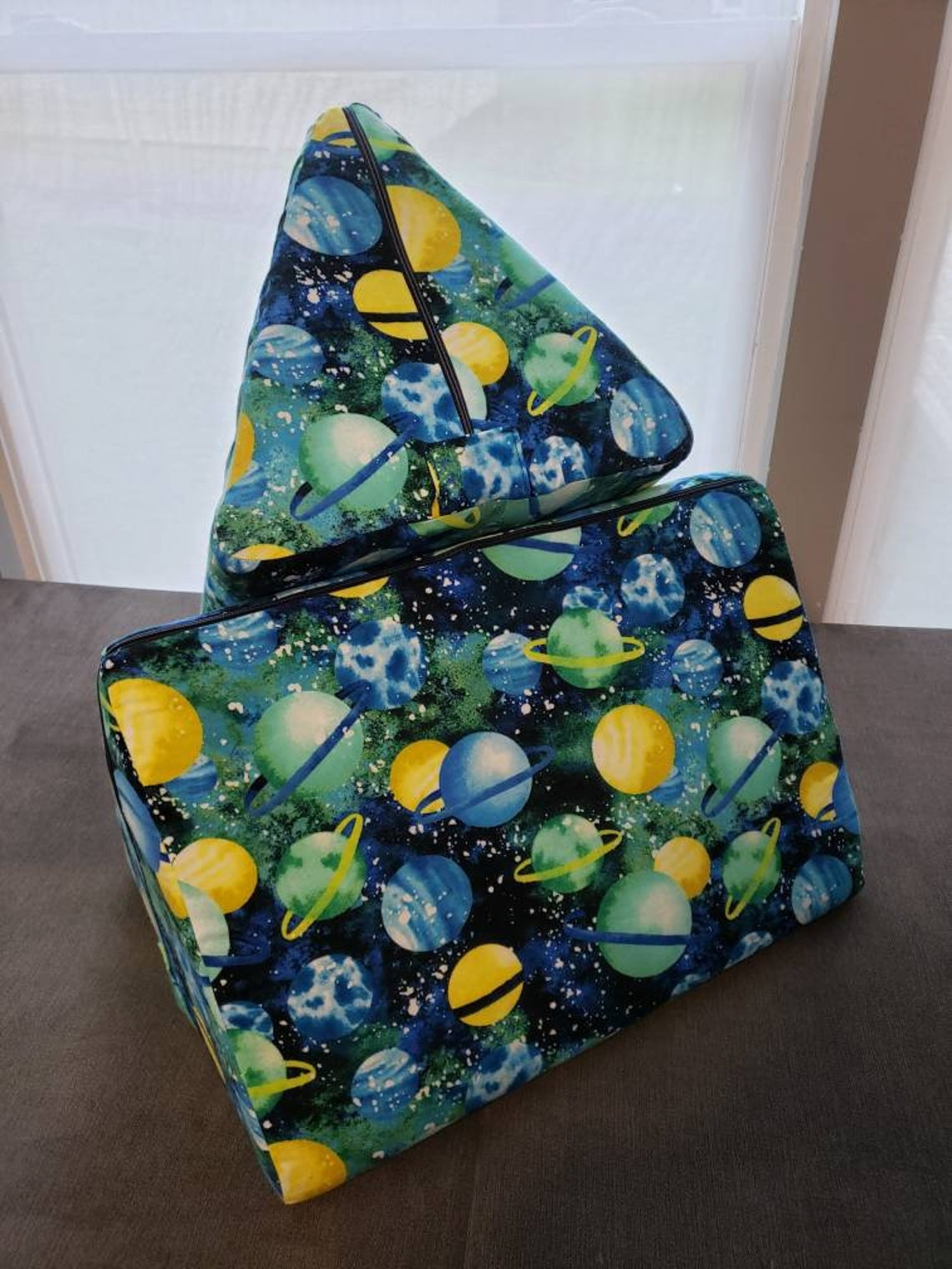 Triangle Pillow Covers universe Space galaxy planets | Etsy