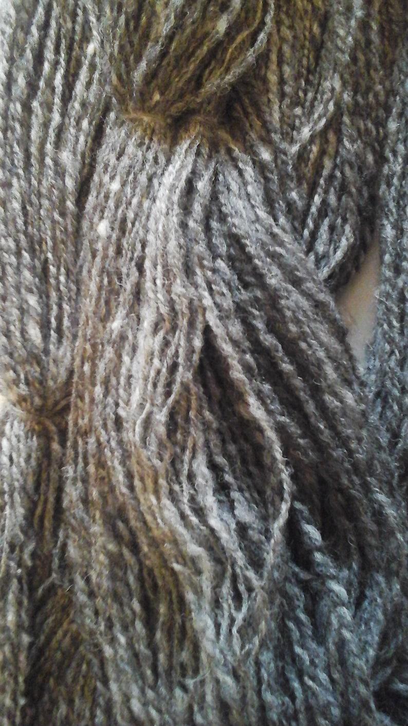 HANDSPUN BOWMONT ALPACA yarn british rare breed fine supersoft dark grey