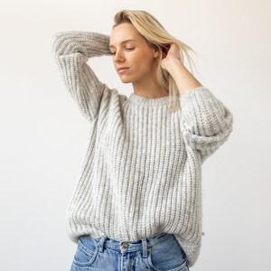 Oversize recycled denim sweater  Eco cotton sweater  Oversize sweater  Oversized pullover  Sustainable clothing  Nove denim jumper