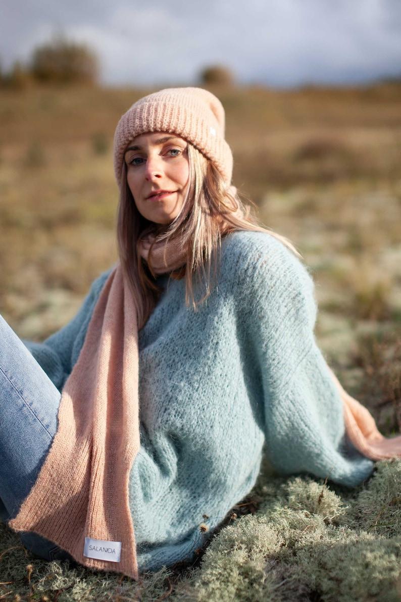 Knit Scarf Alpaca Scarf Women Knitted Scarf Women Knitted Scarf Handmade Winter scarf Long Scarf Wool Scarf
