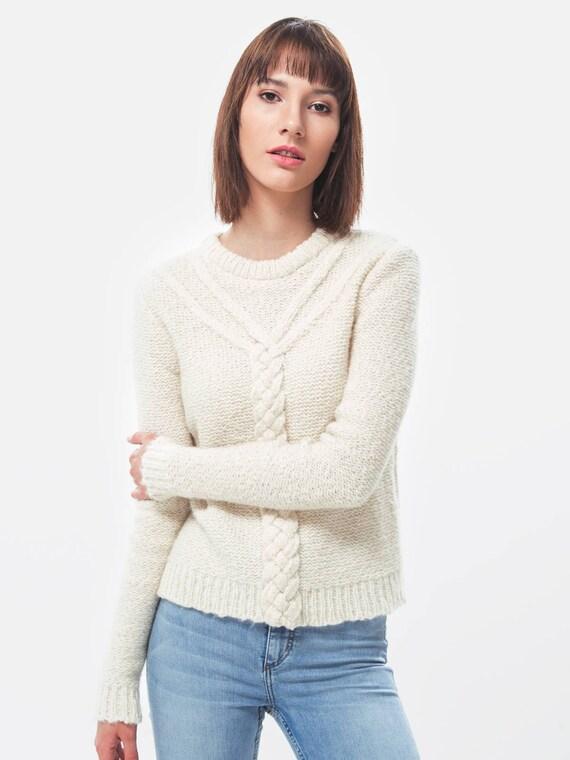 Chunky maglia   maglia   maglione di lana di Alpaca   maglione  eb71471a761