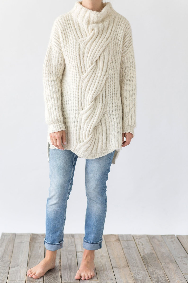 887b7d42f93 Cable knit sweater Alpaca sweater Christmas sweater Sweater