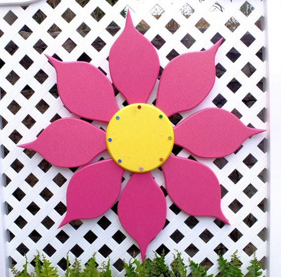 Outdoor Wall Art Flowers, Hanging Yard Art, Colorful Wall Decor for Porch,  Patio or She Shed, Outdoor Pool Decor, Spring Housewarming Gift