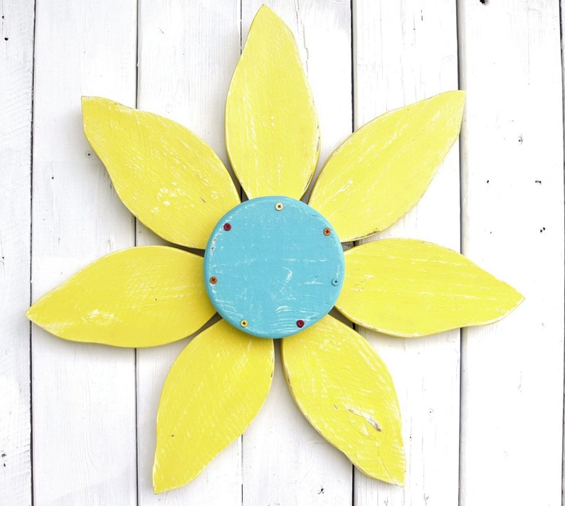 Outdoor Flower Decor Rustic Wood Flower Wall Art Outdoor Wooden Flowers Choose Your Color Country Home Decor Porch Or Patio Decor