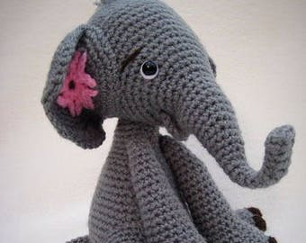 Amigurumi PDF Crochet Pattern Baby Elephant Toy Plushie Safari Animal DIY