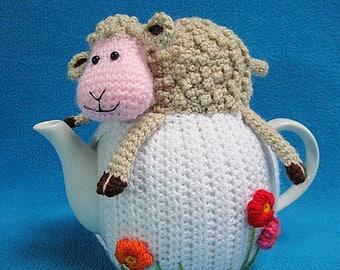 Teacosy Sheep Spring Easter Animal Tea Cosy Home decor PDF crochet PATTERN