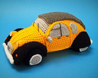 Amigurumi 2CV Inspired French Classic Car Crochet PATTERN PDF Dodoche
