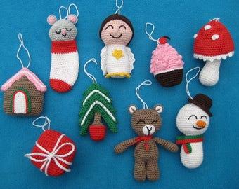 Amigurumi Kerstboom Knuffel Kerst Decoratie Haakpatroon Pdf Etsy