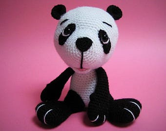 Amigurumi Baby Panda Bear PDF Crochet Pattern Toy Animal Cub