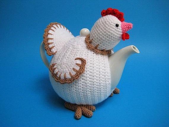 Chicken Tea Cosy Pdf Crochet Pattern Easter Decor Spring Etsy