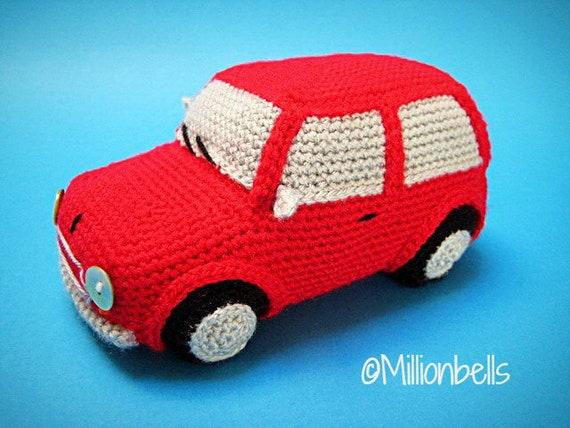 Amigurumi Classic Mini Cooper Inspired Car Crochet Pattern Pdf Etsy