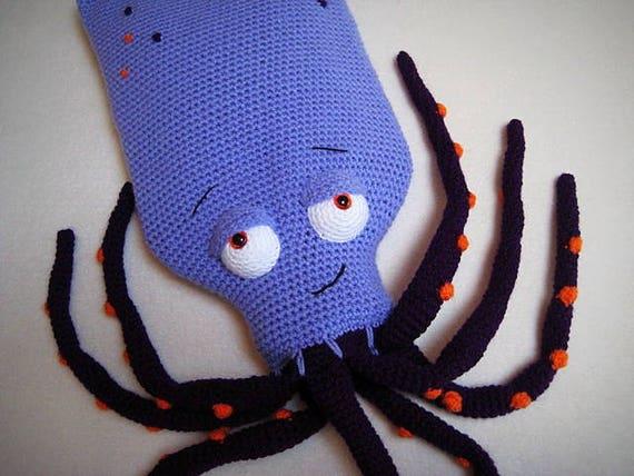 Haakpatroon Knuffelkruik Inktvis Octopus Kruikhoes Haak Etsy