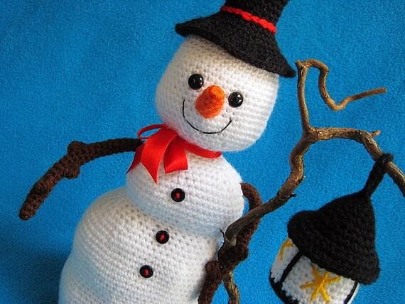 Haakpatroon Amigurumi Sneeuwpop Sneeuwman Pdf Kerst Winter Etsy