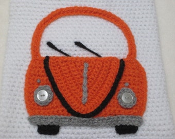 Volkswagen bug beetle car applique motif crochet pattern pdf