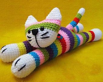 Cat Amigurumi Toy Crochet Pattern PDF Striped Kitty Sock Cat Animal