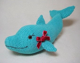 Dolphin Amigurumi Crochet PATTERN PDF Sea Animal Baby Gift Toy Plushie DIY