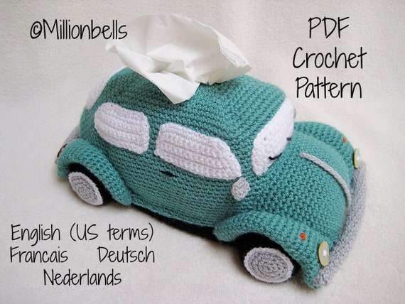Beetle Tissue Holder Pdf Crochet Pattern Tissue Box Cover Etsy
