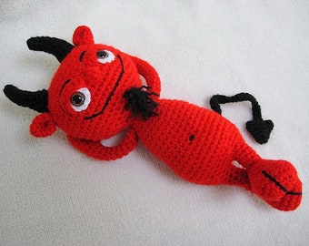 Cheeky Red Devil Amigurumi CROCHET PATTERN PDF Toy Doll