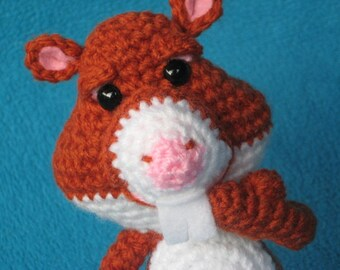 Hamster amigurumi toy doll pet  rodent animal crochet pattern pdf