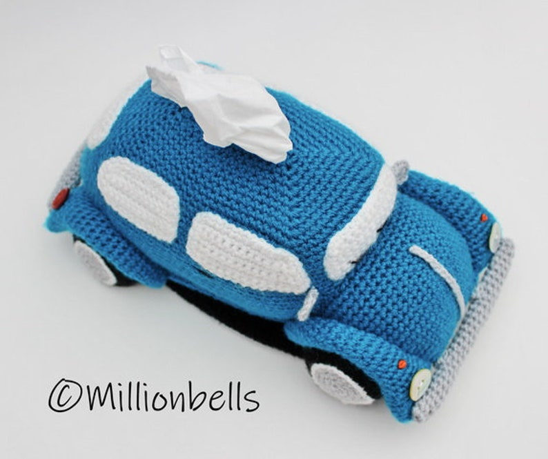 Beetle Tissue Holder Pdf CROCHET PATTERN Tissue Box Cover image 0