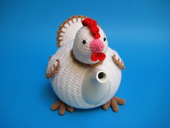 Theemuts Kip Haakpatroon Pdf Theepot Hoes Paaskip Pasen Vogel Dieren Haken Voorjaar