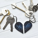 Set of keychains Half heart keychain Boyfriend gift Couples set Anniversary gift His and her keychain Customized Sister gift xmas Mother day