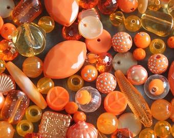 SALE Orange Acrylic Beads 12mm 20 Beads