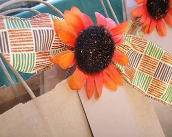 Sunflower gift bag, Aurumn gift bag, Fall gift bag,